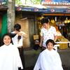 セブ島でストリートカット!初の旅人美容師2人体制