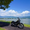 レブル250で諏訪湖へ〜平坦な湖畔沿いは運転しやすくて気分も上々