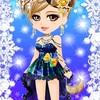 ゲーム「恋してキャバ嬢」のアバター♪夜空のドレス編