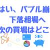 はいっ、バブル崩壊からの下落相場へ!!日経平均1202円下げで3万円割れ!!