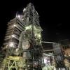 津久見工場夜景(2):摩天楼「津久見タワー」の夜。