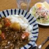 カレーライスと温野菜