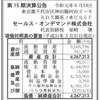 セールス・オンデマンド株式会社 第15期決算公告