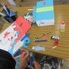 6年生:図工 「くるくるクランク」完成へ