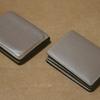 自分用のボックスコイン付き二つ折り財布