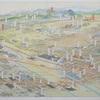 1936年の一宮市の鳥瞰図
