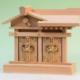 木箱、御神体、物体などの形状のものを入れられる二社の神棚