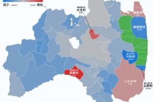 3.11から7年。東日本大震災以降の人口変化をまとめてみた(その2:福島県)