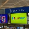 LJ202 NRT→ICN Economy ジンエアーでソウルへ