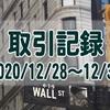 2020/12/28週の米国株オプション取引(確定利益$525、含み益$864)