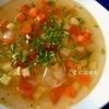 鶏ガラスープで作る!「minestrone:ミネストローネ」作り方・レシピ。