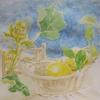 2020年:2月『冬を描く - レモンと蕗の薹』