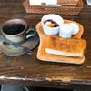 熊野市駅前の喫茶店「カフェブージー」で昼食代わりのモーニングをいただきました