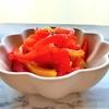 『パプリカのはちみつレモンマリネ』レシピとアレンジ2種【肌を守るためのカロテン+ビタミンC➁】