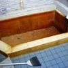 レッツ露天風呂を掃除する。