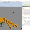 ようやくJavaScriptで物理エンジンつかってオリジナルのコードが動かせつつある