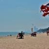 「チャアムビーチ」~ホアヒンの北約30kmにあるビーチリゾート、ここにも自転車で。。。