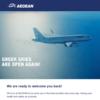 エーゲ航空(Aegean Airlines)からのお知らせ