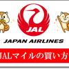 【JALマイル購入方法】JALマイルを間接的に買う方法、不足分や少し足りない場合にも有効な方法とは?