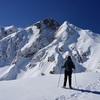 西遠見山から冬の五竜岳を拝む
