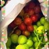 椿への贈り物は心もお腹も満たしてくれた刺激的な美味さの葡萄🍇でしたー