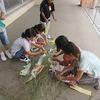 3年生:笹の葉に短冊を