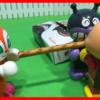 おやつのトッポをアンパンマンとバイキンマンで協力して開封して食べるよ【アンパンマンYoutubeアニメ動画】