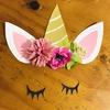 【長女4歳 誕生日パーティーの準備】虹とユニコーンの飾りを作りました