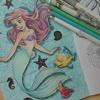 色鉛筆で水面(っぽい感じ←)の塗り方紹介です☆アートぬりえArielより