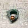 琥珀のリング製作