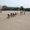 6年:陸上大会のリレー練習