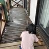 【日々のメンテナンス重要】昨日は防腐剤を塗りました(^^♪