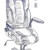 高級椅子の同僚