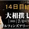 「大相撲七月場所」14日目の結果です。千秋楽は白鵬vs.照ノ富士が全勝で激突!予想は低調。