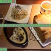 🚩外食日記(613)    宮崎ランチ   「マガリ(Magari)」④より、【厚切りブレッドキーマディップ(スープサラダセットチーズ添え)】‼️