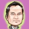 iPadで描いた 渡辺謙さんの似顔絵と似顔絵が出来上がるまで。