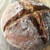 【天然酵母】ライ麦粉50% 強力粉50%で作る「ライ麦全粒粉の天然酵母パン」作り方・レシピ。