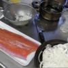 幸運な病のレシピ( 94 ) 鮭のタジン檸檬、ツルツル砂肝、ブタバラ肉キムチ、鍋再生
