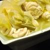 豊洲の「米花」で肉豆腐、ほうれん草のおひたし、タラ白子ふぐ炊き合わせ。
