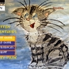 Kitten adventures in city park 手書きで描かれた猫のアドベンチャーゲーム