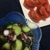 夏のご飯には、こざっぱりした野菜の副菜とお酒があればいい。
