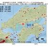 2016年09月21日 01時23分 安芸灘でM2.6の地震