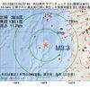 2017年08月15日 09時37分 秋田県沖でM3.3の地震