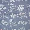 着物生地(127)古典柄に花模様上代紬