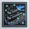 チョークアート*虹と青い鳥