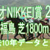 【ラジオNIKKEI賞 2020】過去10年データと予想