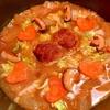 焼きハンバーグde冬瓜と白菜のオイスター三升漬鍋