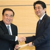 首相、韓国特使と会談 「未来志向の関係を」
