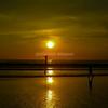 夕日の色@パトンビーチ