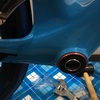 青いエアロロードですが、仮組みでアクシデント